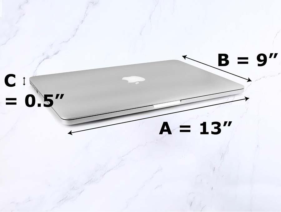 laptop sleeve pattern measurements