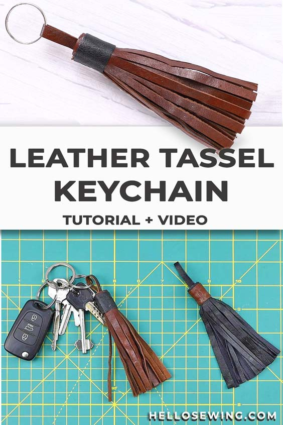 How to make a leather tassel keychain