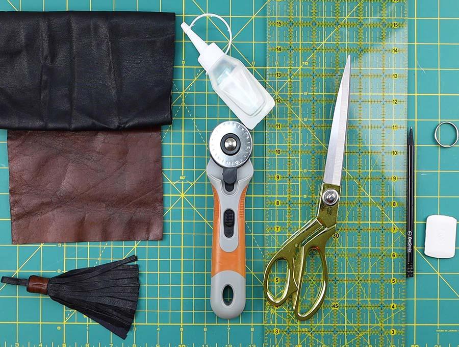 leather tassel keychain supplies