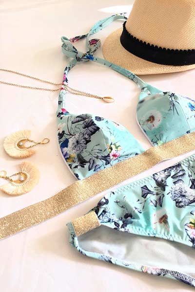 two piece bikini pattern