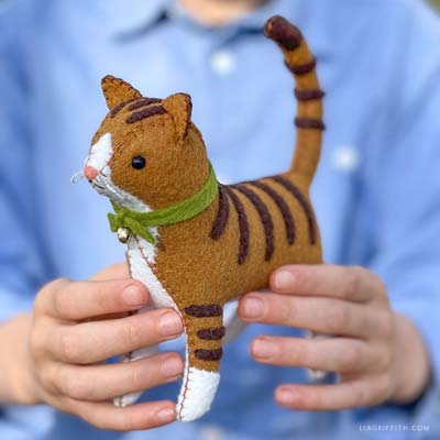 felt cat pattern - cute felt stuffie