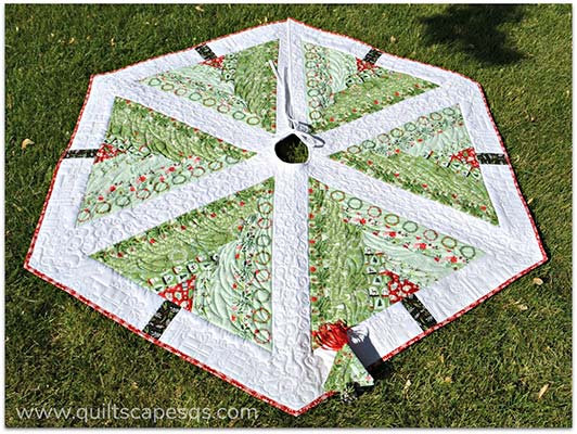 log cabin quilted tree skirt pattern