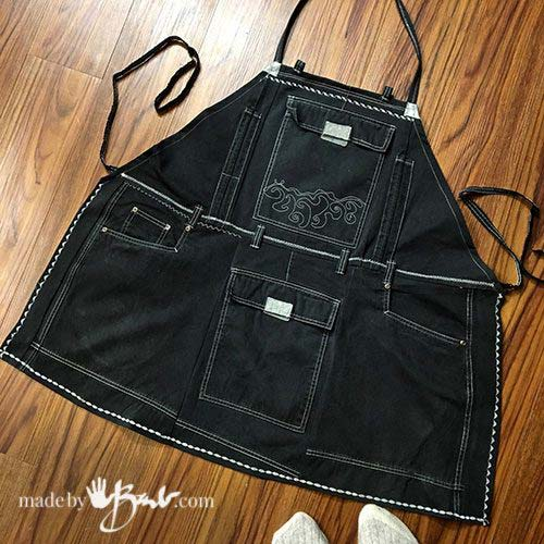 upcycled apron tutorial