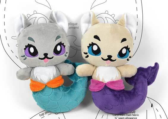 free mer kitty plush pattern