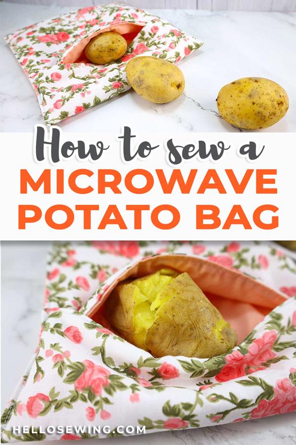 How to make a microwave potato bag tutorial
