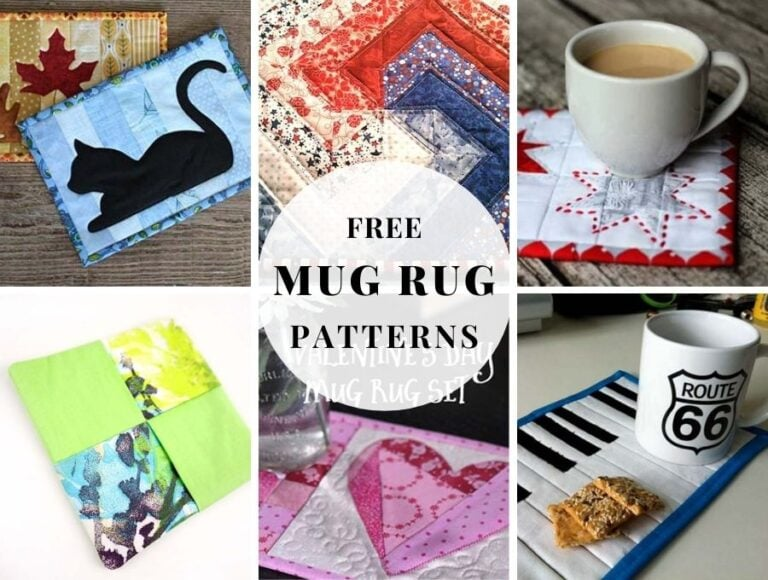 12+ Free Mug Rug Patterns to Snack in Style