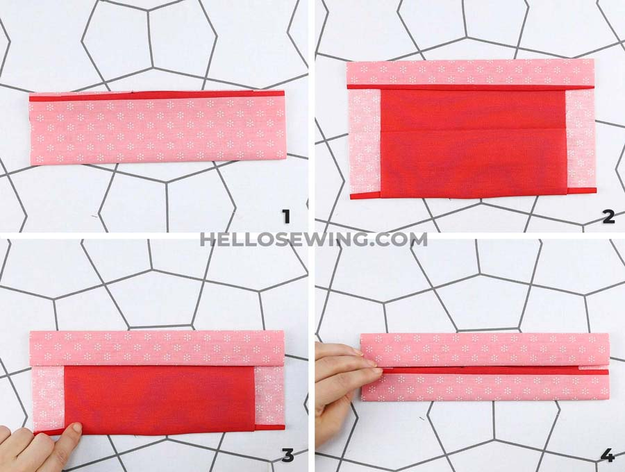 no fog face mask folding to make the ridges of the pleats