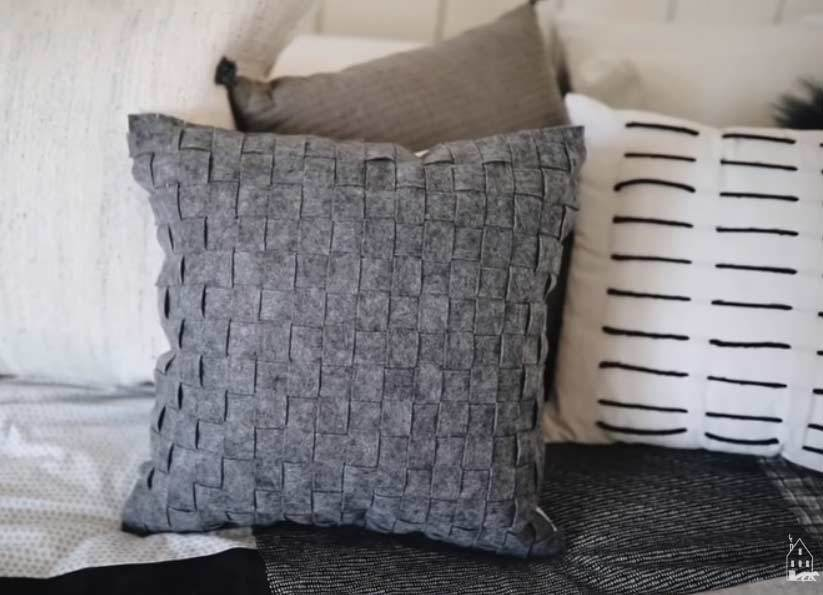 no sew weaved pillow