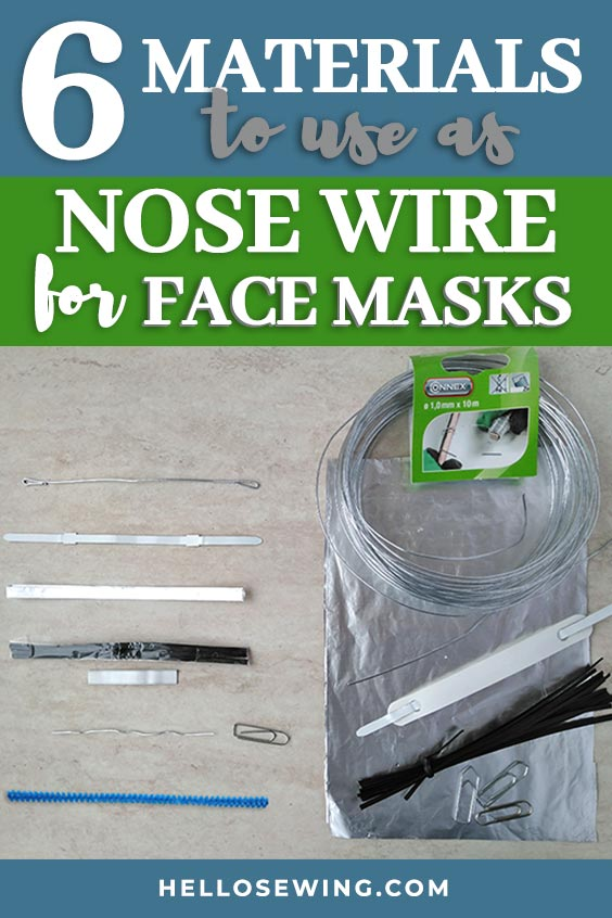 nose bridge wire for face masks pin