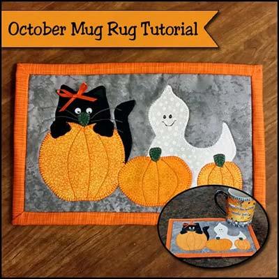 haloween mug rug pattern