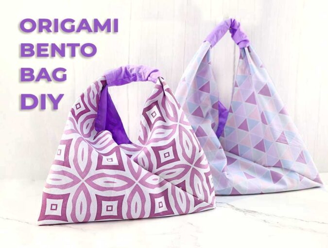 origami bag and bento bag pattern and tutorial