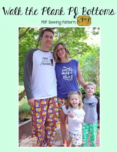 unisex pajama pants pattern