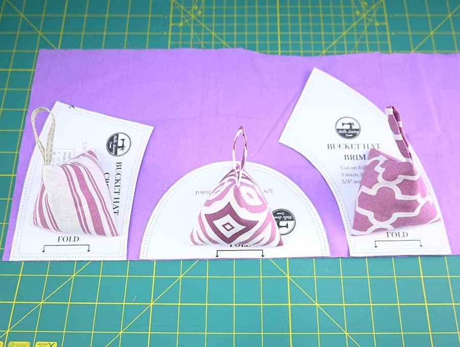 pattern weights for sewing holding down my bucket hat sewing pattern