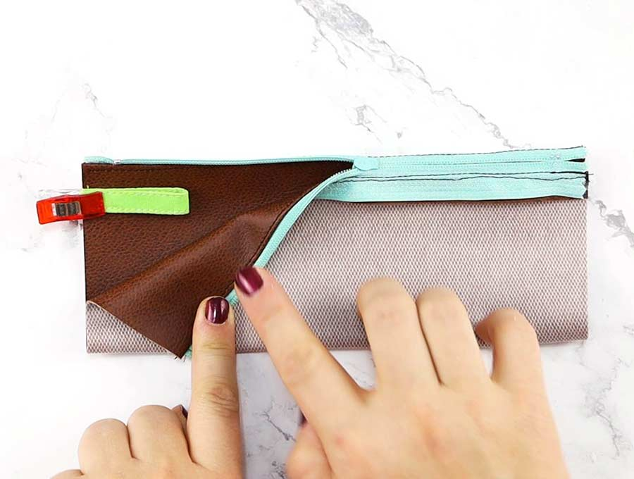 adding pull tab to the pencil case