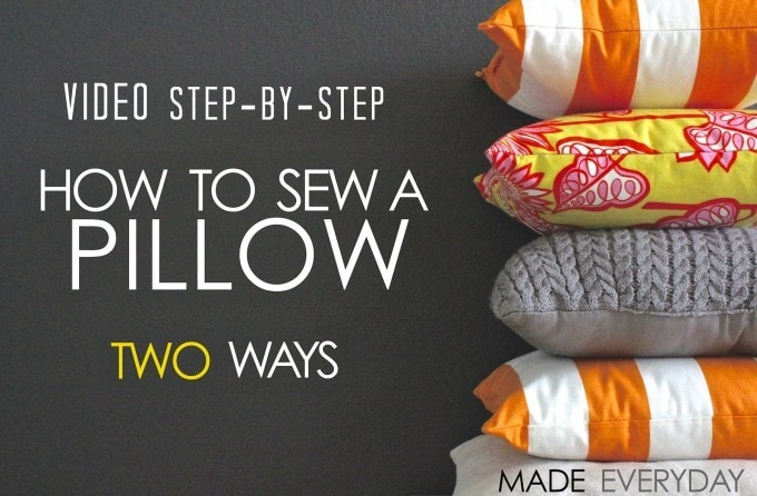 two ways to make a throw pillow
