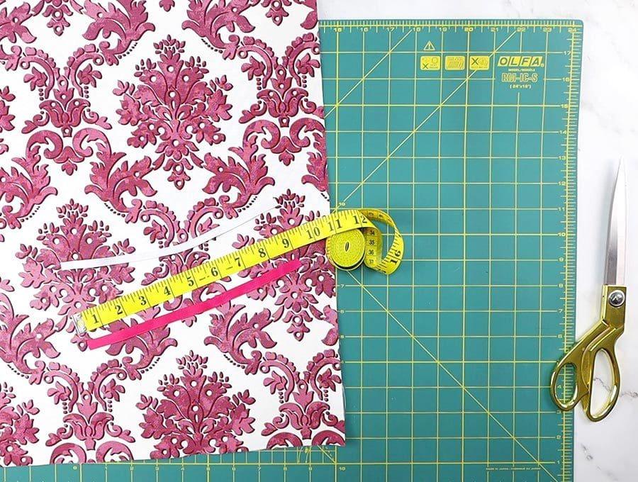 cut fabric, elastic and ribbon