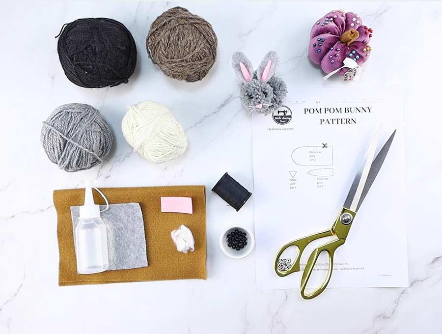 pom pom bunny supplies