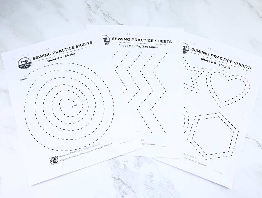 printable sewing worksheets #4 to #6