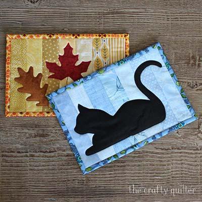 quilt as you go mug rug