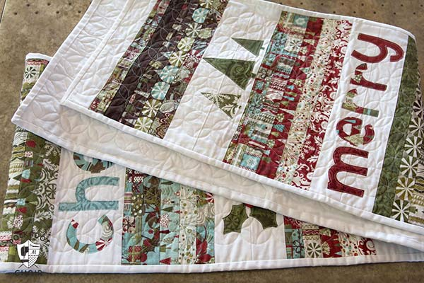 quilted christmas table runner pattern