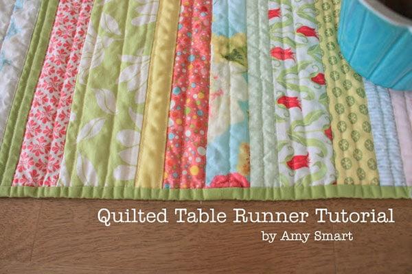 stripes pattern for easy table runner