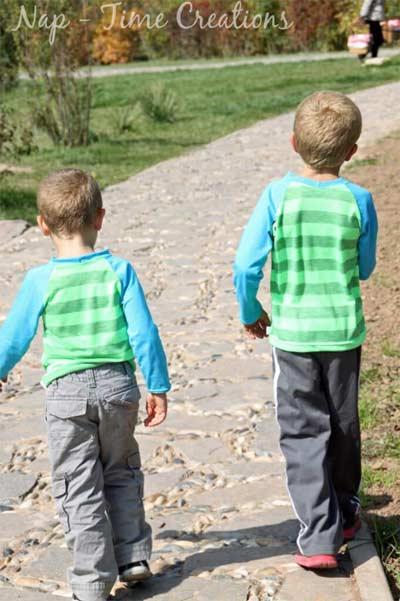 kids raglan tshirt pattern