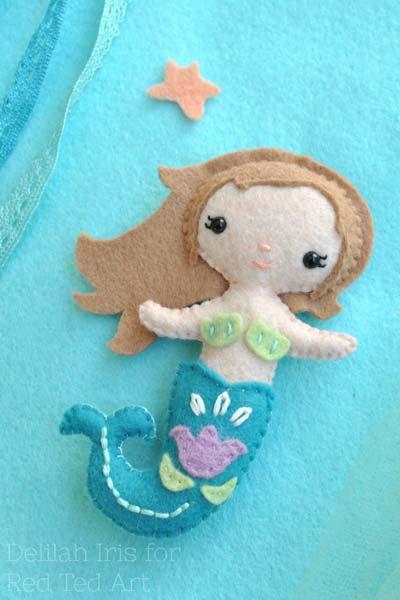 felt little mermaid pattern