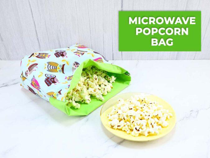 reusable microwave popcorn bag
