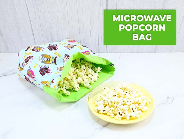 DIY Reusable Microwave Popcorn Bag (VIDEO)