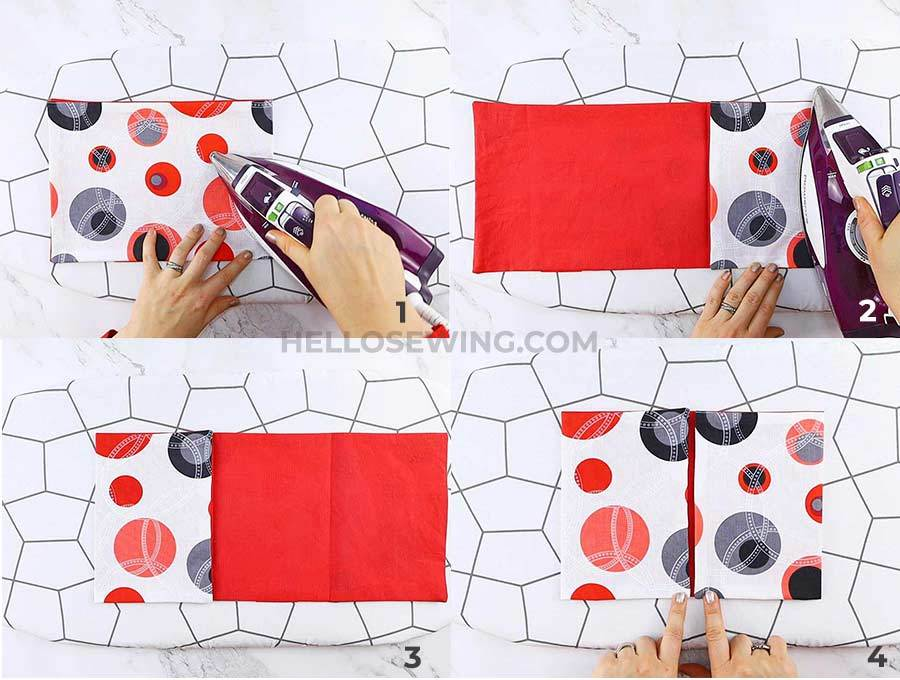 how to make a rice heating pad compartments step by step