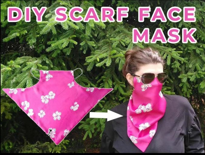 DIY scarf face mask - how to make it