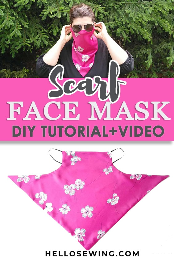 DIY Scarf Face Mask (Sewing tutorial+Free Pattern)