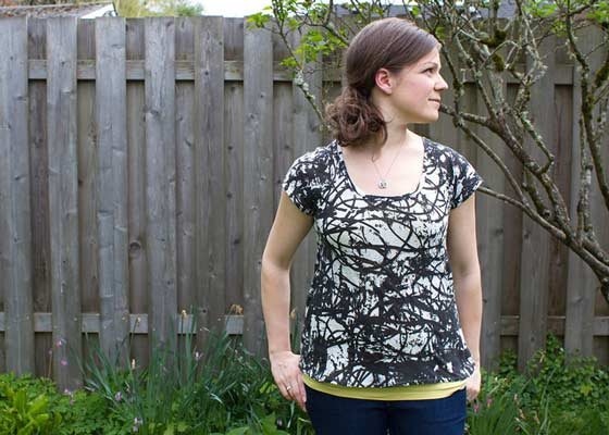 pattern for woman's tshirt