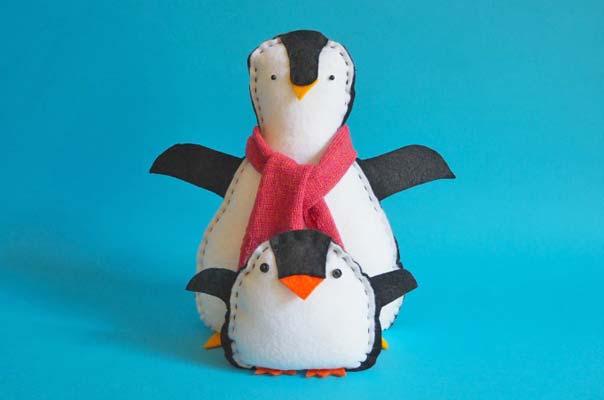 free felt penguin pattern