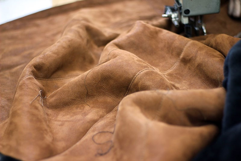 how to sew leather on home sewing machine