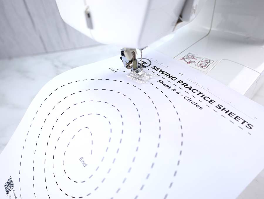 sewing practice sheets #4 - circles