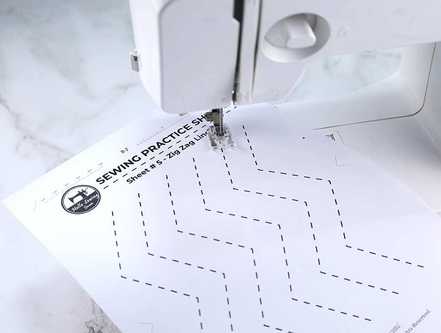 sewing practice sheets #5 - zig zag lines