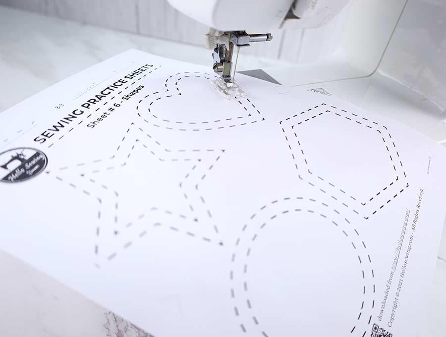 sewing practice sheets #6 - shapes
