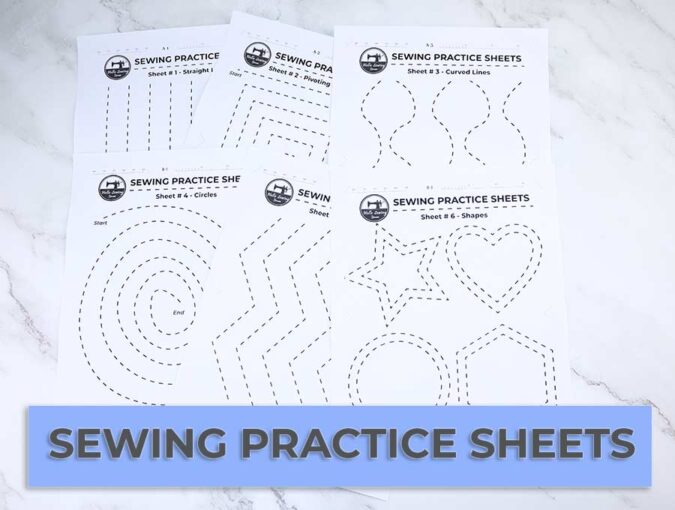sewing practice sheets - all together