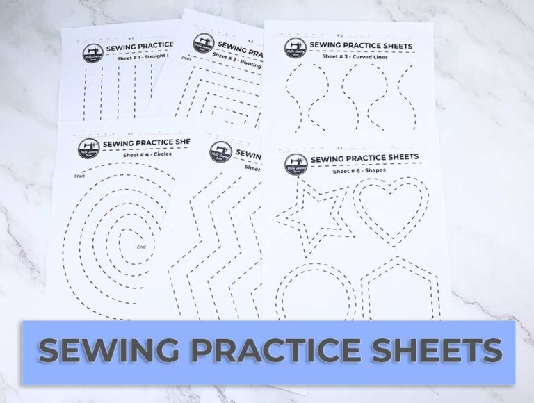 Printable Sewing Practice Sheets to Perfect Your Stitches