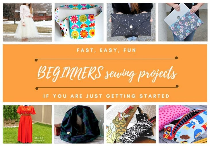 easy beginners sewing projects