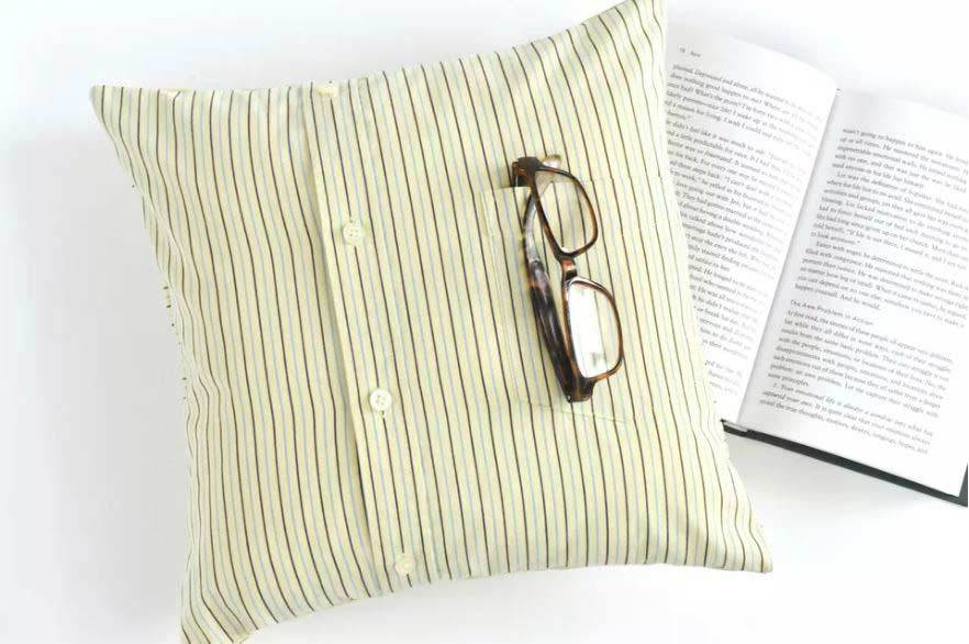 throw pillow out of a shirt