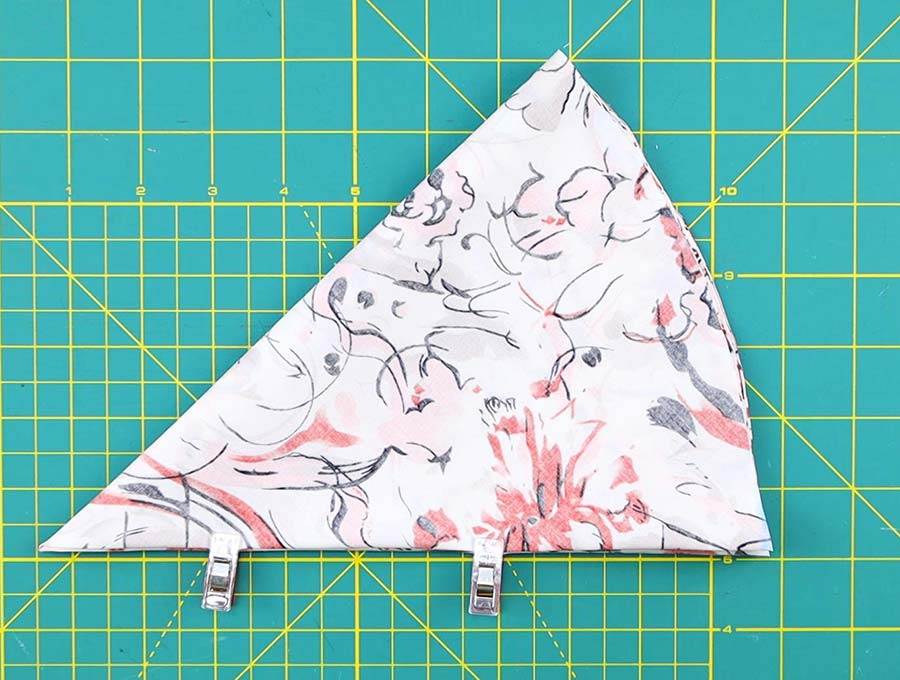 cut the shower cap pattern and circle