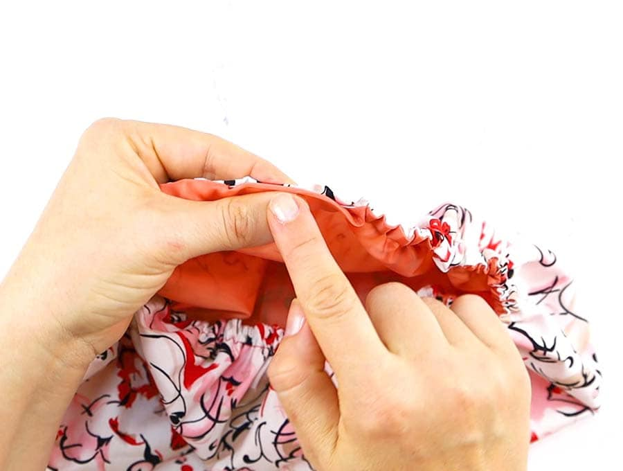 shower cap - sewing the gap closed