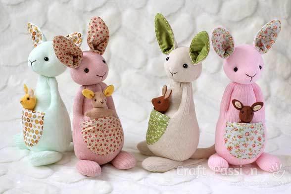 free stuffed kangaroos pattern