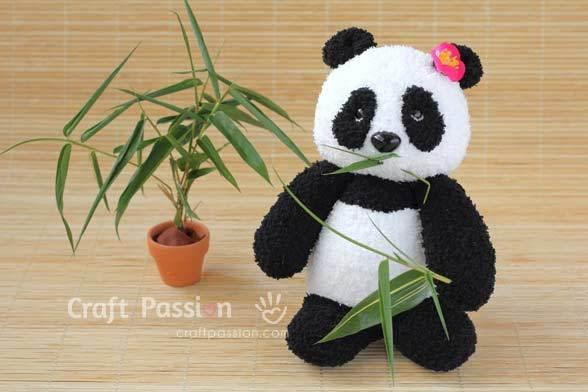free stuffed panda pattern