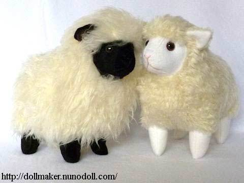stuffed sheep - free sewing pattern