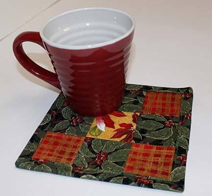 simple 9 patch mug rug