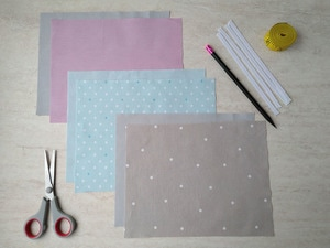 materials and supplies for the surgical face mask pattern