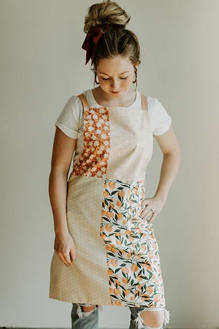 patchwork full apron pattern